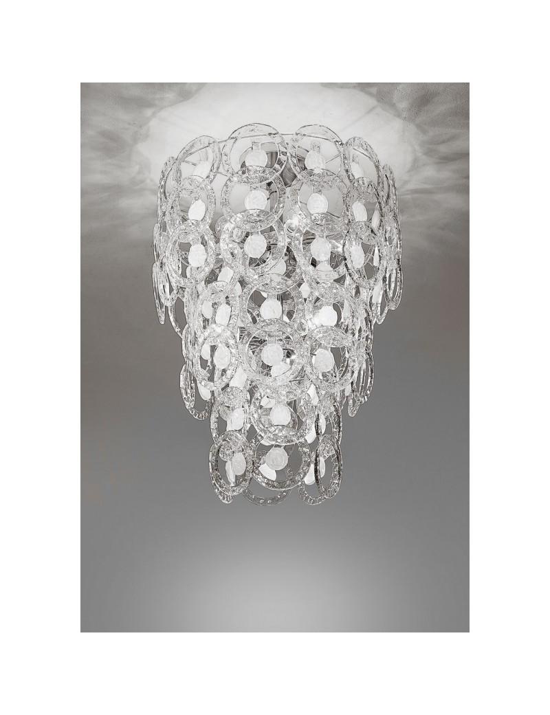 ANTEALUCE: Mary rose plafoniera cristallo bianco 55cm in offerta