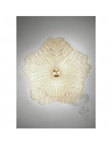 ANTEALUCE: Preziosa plafoniera graniglia ambra 50cm in offerta