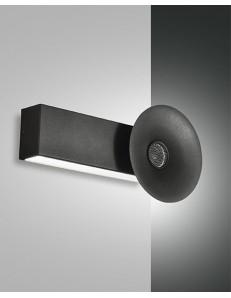 FABAS LUCE: Aretha applique LED 10w nera con altoparlante bluetooth incorporato in offerta