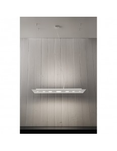 ANTEALUCE: Loop sospensione LED doppia luce 90x40cm in offerta