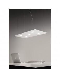 ANTEALUCE: Tratto sospensione LED metallo 90x40cm in offerta