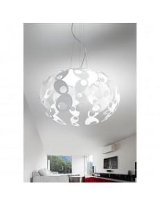ANTEALUCE: Cloud sospensione LED metallo bianco 55cm in offerta