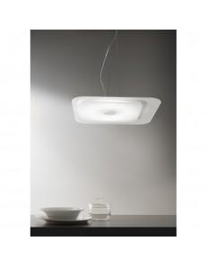 Fuoriskema square sospensione LED bianco 55x55cm in offerta