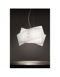 Sospensione Fold vetro bianco 76cm Antea Luce