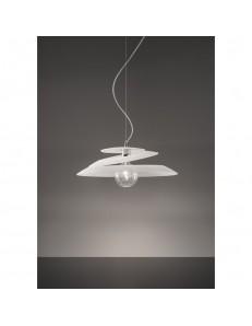 Sospensione Fold vetro bianco Diametro 52cm Antea Luce