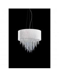 Sospensione Glitter Diametro 55 con cristalli a cascata Antea Luce