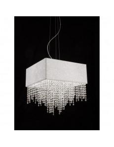 Sospensione Spark tessuto glitter con cristalli a cascata Antea Luce