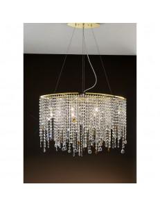 Alyssa gold sospensione cristallo 80cm in offerta
