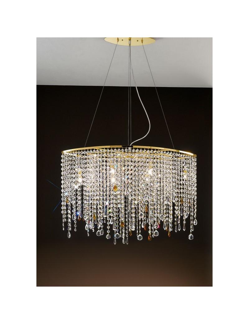 ANTEALUCE: Alyssa gold sospensione cristallo 80cm in offerta