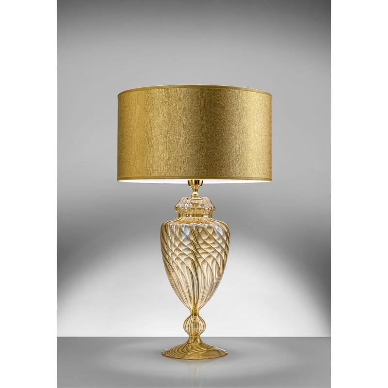 Lampada da tavolo cristallo Mary Rose oro Antea Luce