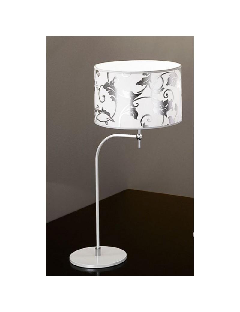 Fashion lumetto bianco arabescato argento 30cm