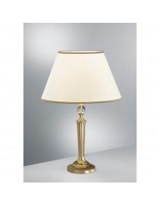 Lampada da tavolo Venice Diametro 45 ottone paralume panna Antea Luce