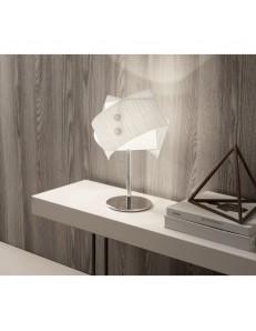 Lumetto Fold in vetro rigato bianco Antea Luce