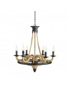 ONDALUCE: Artu lampadario rustico 6 luci in offerta