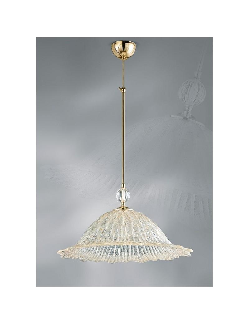 Lampadari Classici In Vetro.Lampadario Raggio Di Sole Diametro37 Vetro Graniglia Ambra Antea