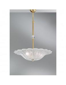 Lampadario 3 luci Kelly Diametro60 in graniglia cristallo Antea Luce
