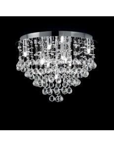 Plafoniera cromo con cristalli Pechino Diametro 40 Ondaluce Ciciriello