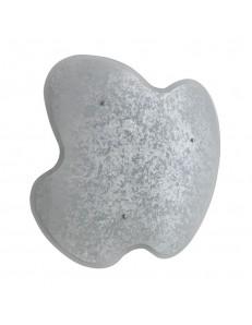 Plafoniera in vetro curvo Kaki Diametro 40 argento Ondaluce Ciciriello