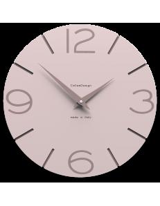 CALLEADESIGN: Orologio da muro in legno rotondo moderno color rosa conchiglia in offerta
