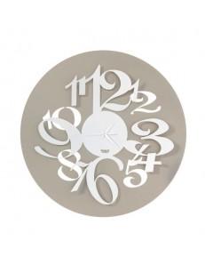 ARTI e MESTIERI: Focus orologio con numeri grandi effetto tridimensionale sabbia e bianco in offerta