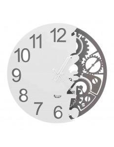ARTI e MESTIERI: Full meccano orologio da parete meta' ingranaggi ardesia bianco in offerta