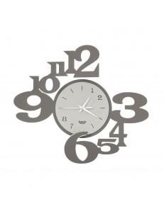 ARTI e MESTIERI: Chiasmo king orologio da parete moderno fango avorio 45x40cm in offerta