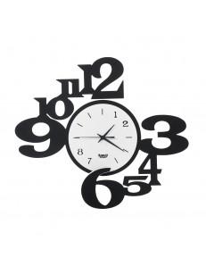 ARTI e MESTIERI: Chiasmo king orologio da parete nero e bianco 45x40cm in offerta
