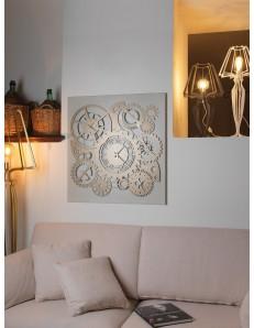 ARTI e MESTIERI: Ingranaggi meccano orologio da parete quadrato 3 fusi avorio bronzo in offerta