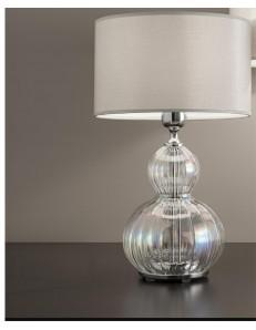 Lampada da tavolo olivia iride cromo Diametro 25 cm Antea Luce