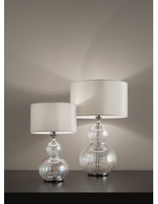 Lampada da tavolo olivia iride cromo Diametro 35 cm Antea Luce