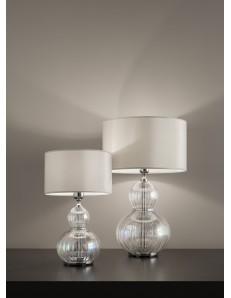 ANTEALUCE: Olivia lampada da tavolo iride cromo 35cm in offerta