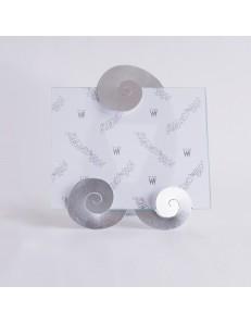 ARTI e MESTIERI: Tip portafoto da tavolo foglia argento 25x28cm in offerta