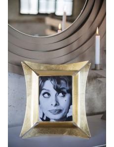 ARTI e MESTIERI: Morgana portafoto da tavolo piccolo foglia oro 26x28cm in offerta