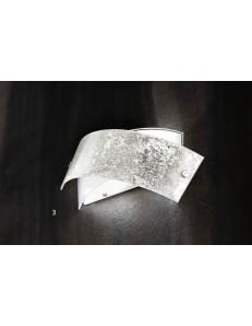 Applique Camilla AP foglia argento design moderno Gea Luce 34x20 cm
