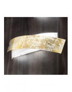 Applique Camilla AP foglia oro design moderno Gea Luce 34x20 cm
