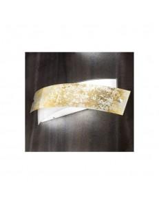 Applique Camilla Am foglia oro design moderno Gea Luce 54x20 cm