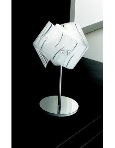 GEA LUCE: Agnese lampada da comodino i vetro lumetto vetri fili neri in offerta
