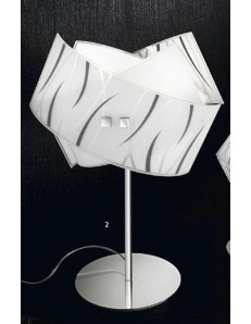 GEA LUCE: Agnese lampada da tavolo grande vetri fili neri in offerta