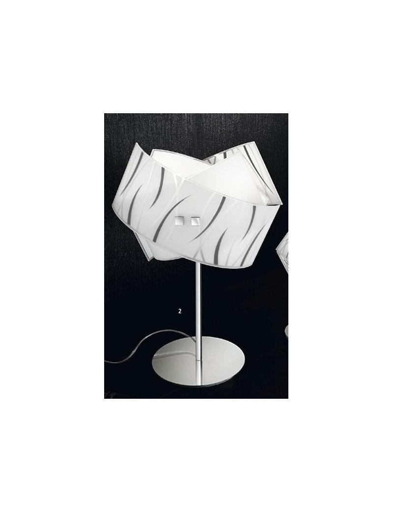 GEA LUCE AGNESE LAMPADA GRANDE DA COMÒ PER CAMERA DA LETTO MODERNA VETRI  FILI NERI