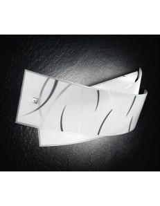 GEA LUCE: Agnese piccola lastre in vetro fili neri lampada da muro moderna in offerta