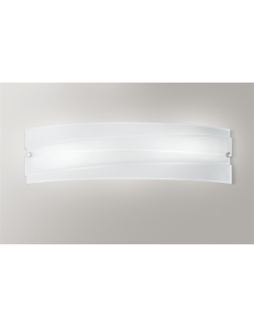 GEA LUCE: Ilaria applique da parete moderna in vetro bianco 70cm in offerta