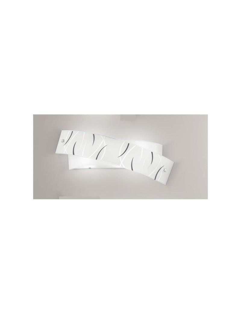 Agnese big grande applique da parete moderna per interni vetro fili neri