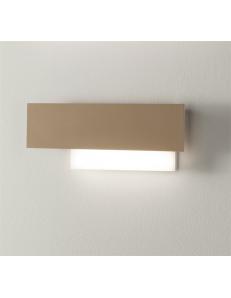 Doha piccola applique LED 15w lampada parete tortora e bianco