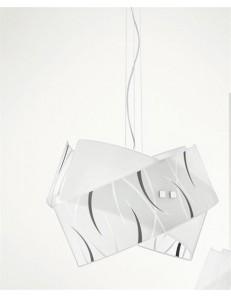 Gea Luce: Agnese big sospensione vetri fili neri moderna per