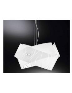 GEA LUCE: Agnese big lampadario soggiorno salotto moderno fili bianchi in offerta