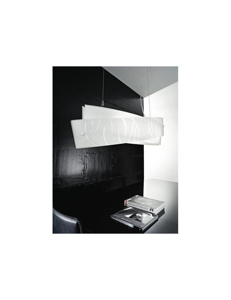 Agnese medium lampadario LED fili bianchi per soggiorno moderno
