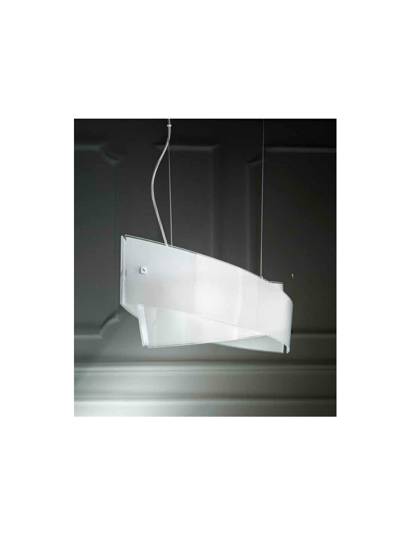 Lampadari Soggiorno Moderno.Penelope Media Lampadario Di Vetro Per Soggiorno Design Moderno