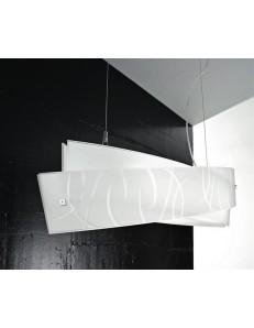 Gea Luce: Agnese big bis sospensione LED design fili bianchi