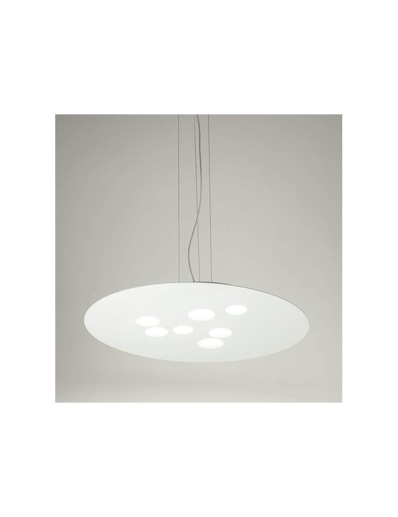Luna lampadario moderno bianco per soggiorno LED biemissione