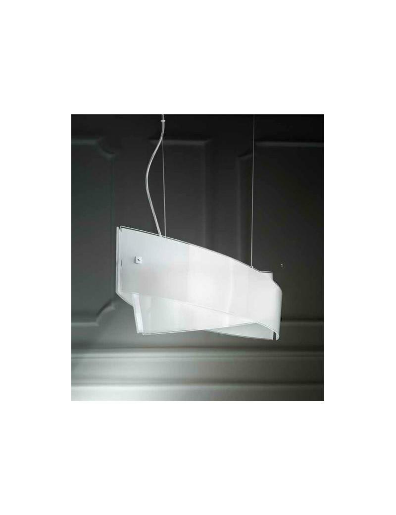 Penelope lampadario per salotto moderno vetro bianco